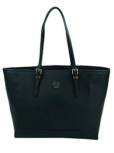 Tommy Hilfiger Damen Honey Ew Tote Stofftasche, Schwarz (Black), 15.5x25.5x36 cm (Tommy Hilfiger Shopper)