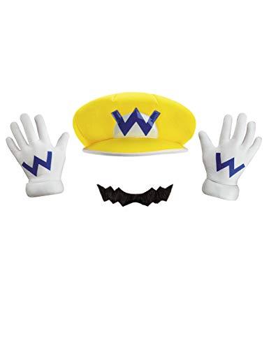 Generique - Nintendo Wario Kostüms-Set Lizenzartikel (Wario Kostüm Kostüm)