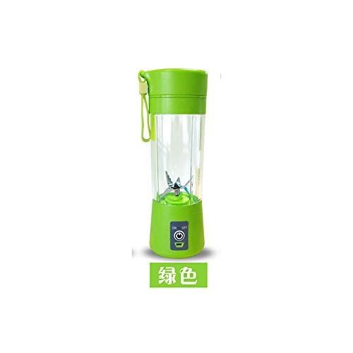 ldqlsq frullatore per smoothie, frullatore per frutta e verdura coltello elettrico multifunzione in acciaio inossidabile con mini miscelatore per frullati di frutta e verdura,green