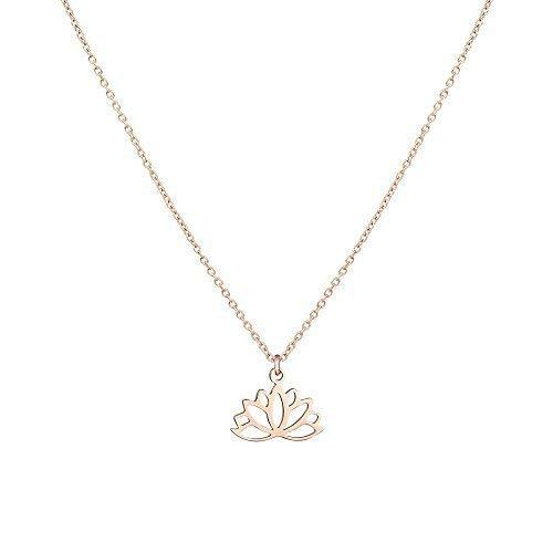 PURELEI Damen Halskette (925 Sterling Silber) Verschiedene Motive & Farben (45 cm Länge) (Kalea-RoseGold, 45.00)