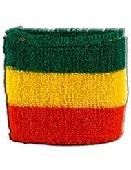 Digni® Poignet éponge avec drapeau Éthiopie sans blason, Rasta