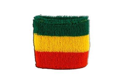 ßband Motiv Fahne/Flagge Äthiopien ohne Wappen, Rasta, 2er Set + gratis Aufkleber ()