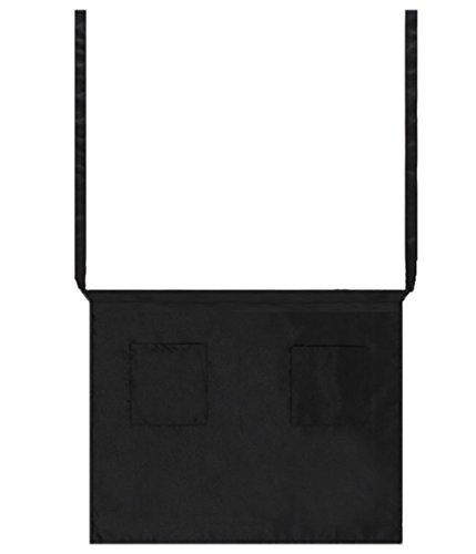 ruikey Unisex verstellbar kurz Taille Kochen Schürze Wasserdicht Cafe Esstisch Hotel Bar Kellner Schürze mit 2Taschen, schwarz, 42* 61cm/ 24.02 * 16.54inch(L * W) -