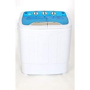 DMR MiniWash Plastic Twin Tub Portable Semi Automatic Washing Machine 3.6 kg Washing Capacity 3.6 Kg Spin Capacity 2 kg Most compact (Blue)