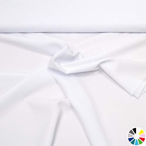 (MAGAM-Stoffe Allround-Stoff ''Mara'' Blickdicht und knitterarm, ideal für Kostüme, Tischdecken, Dekostoff - Meterware ab 50cm (01. Weiß.))