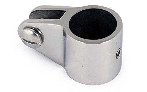 wellenshop Gabelgelenk für 22 mm Rohre. Zubehör für Bimini, Sonnenverdecke usw. Ausführung in Edelstahl.