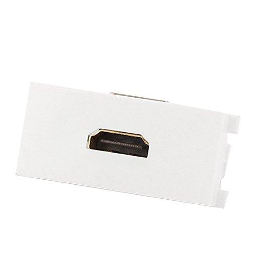 HDMI ad angolo retto femmina/femmina modulo piastra a muro presa di uscita bianco