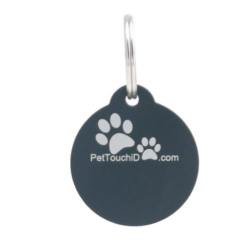 pettouchid-smart-pet-id-tag-qr-code-nfc-gps-location-black