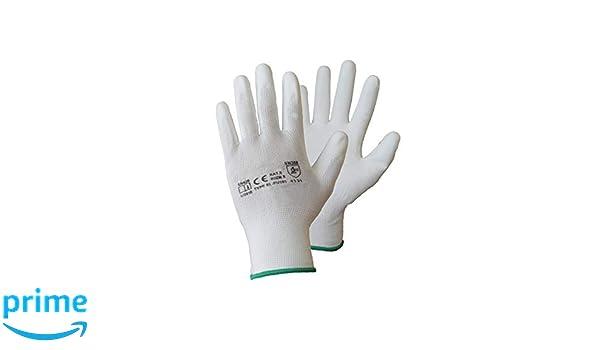ecc./ bianco giardinaggio /by aspro Bianco nylon rivestito in PU guanti da lavoro per costruttori