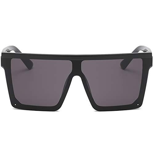 WBAHJQuadratische Sonnenbrille Frauen Flat Top Gradient Brille Männer Randlose Reise Brillen