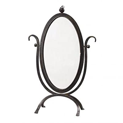 Large Vintage Style Bird Dressing Table/ Vanity Mirror in Black