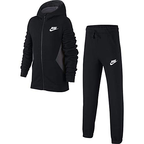 Nike Jungen B NSW BF CORE Tracksuit, Black/Anthracite/White, M