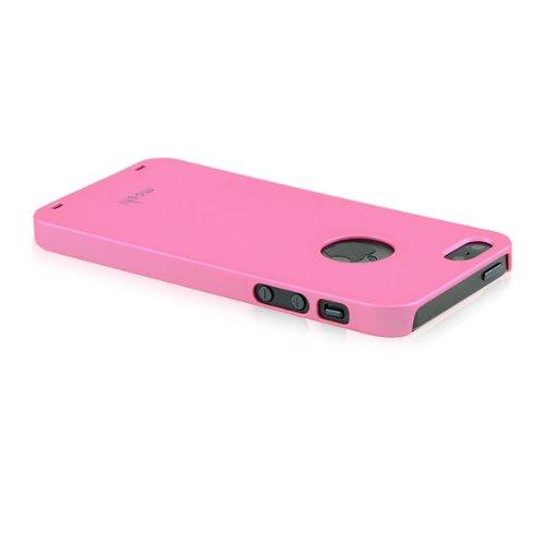 Solide Couleur Coque arrière pour iPhone 5et 5S-Rose