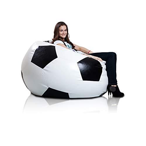 Ecopuf XXXL Sport Ball Sitzsack Abdeckung,aus Öko-Leder, Ideal für Kinder, Jugendliche und...