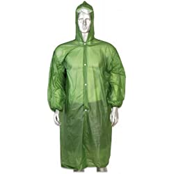 Poncho Impermeable Verde Multiuso Y Transpirable