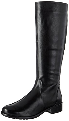 GERRY WEBER Shoes Damen Calla 05 Stiefel, Schwarz (Schwarz (100)), 39 EU (Glattleder-stiefel)