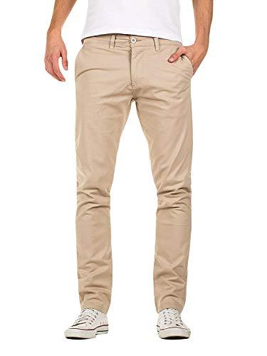 Pantaloni Uomo Pantaloni Chino Stretch Dritto Pantaloni Lunghi Casuali (Cachi, 32(L))