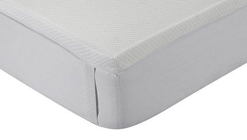 Classic Blanc - Topper/Viskoelastische Matratzenauflage Komfort Plus, mittlere Festigkeit, 160 x 200 cm, Höhe 5 cm, Bett 160