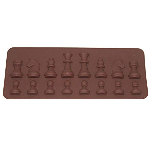 Loving bird Women Fashion Mold 15-Cavity Chess Shaped Ice Chocolate Sugar Cake Silicone Mini Cube Tray Chess e888