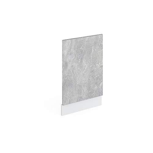Vicco Küchenschrank R-Line Hängeschrank Unterschrank Küchenzeile Küchenunterschrank Arbeitsplatte, Möbel verfügbar in anthrazit und weiß (Beton ohne Arbeitsplatte, Geschirrspülerblende 45 cm)