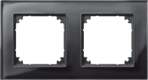 Preisvergleich Produktbild Merten 489203 M-PLAN-Echtglasrahmen, 2fach, Onyxschwarz