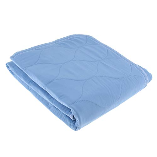 perfeclan Inkontinenzunterlage waschbar 6-lagig Krankenunterlage Bettschutzauflage Inkontinenzauflage - Blau