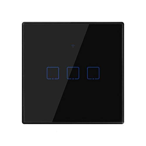 BSDK Interruptor de Pantalla táctil Smart Wall Light, Control Remoto Wifiapp Reino...