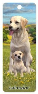 3D-Lesezeichen, Motiv gelber Labrador