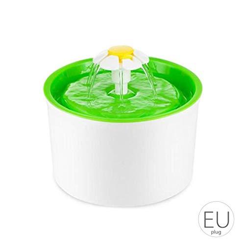 censhaorme Plástico Forma eléctrico automático para Mascotas Fuente de Agua de Flor de Gato del Perro de la Bebida del alimentador del Agua Potable Bowl dispensador