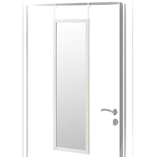 Espejo de Puerta nórdico Blanco de Madera MDF para Dormitorio de 35 x 125 cm Fantasy - LOLAhome