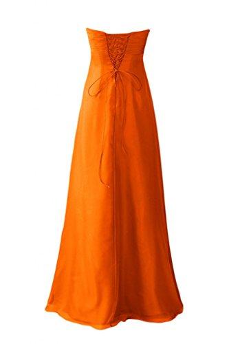 Sunvary semplice lunghe Straplesss abiti da damigella d'onore Orange