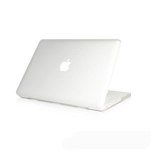 Topideal mate Carcasa rígida de esmerilado funda para 13pulgadas blanco Unibody MacBook 13(modelo: A1342/Liberado después de octubre de 2009) -Clear