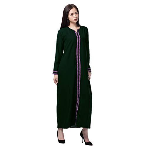 TWIFER Damen Sommerkleid Kleidung Der Muslimischen Roben Orientalischen Ethnischen Stickerei