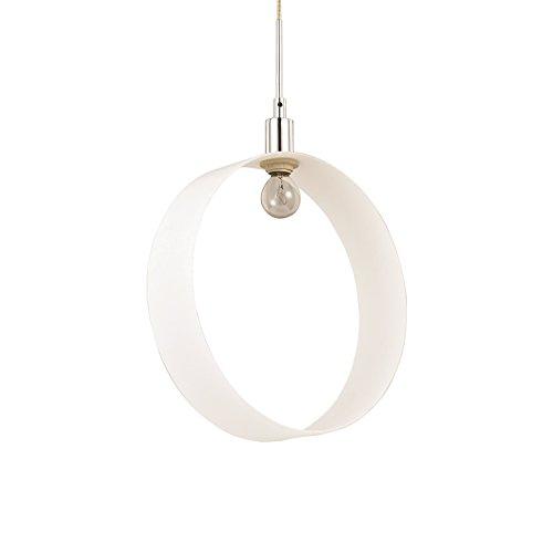 VAL4DL12098975SP1 - Hängelampe Innenbeleuchtung Metall chrom - Ring Ø 30 cm aus mundgeblasenem Glas weiß - Kronleuchter - Platz von VALASTRO LIGHTING -