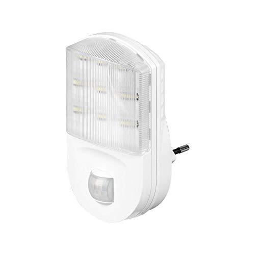 Goobay 96500 LED Nachtlicht mit Bewegungsmelder 9m Reichweite, weiß