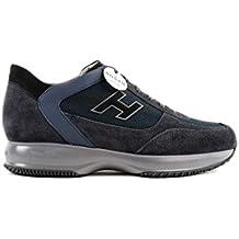 Hogan New Interactive Sneakers Uomo H Flock Etichetta in Suede con Dettagli  in Pelle 7721a1380e8