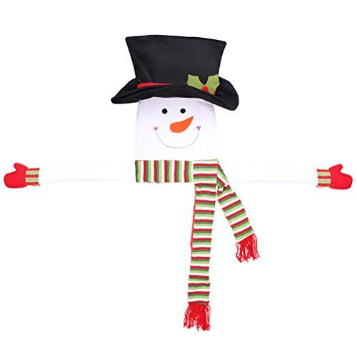 PRETYZOOM Arbre de Noël Topper Chapeau de Bonhomme de Neige Haut de d'arbre Noël