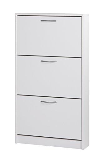13casa - taipei b1 - scarpiera. dim: 58x17x105 h cm. col: bianco. mat: nobilitato.