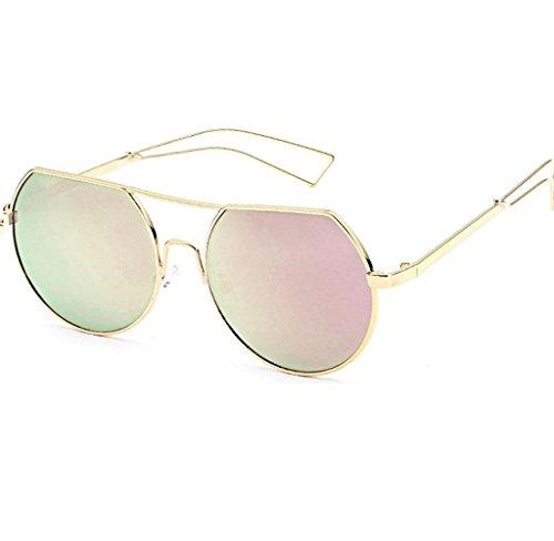 Amcool Unisex Mode Rund Polarisiert Sonnenbrille Anti-Reflection Nachtsichtbrille Sunglasses (F)
