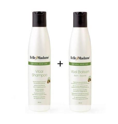 Bella Shampoo (Echthaar Perücken Pflegeset Shampoo 200ml + Balsam 200ml Dening Hair Belle Madame)