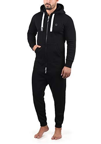 !Solid BennJump Herren Jumpsuit Sweat-Overall Onesie Mit Kapuze, Größe:L, Farbe:Black (9000)