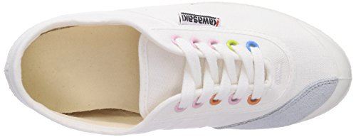 Kawasaki Rainbow basic Unisex-Erwachsene Sneakers Weiß (White/eyelick /01)