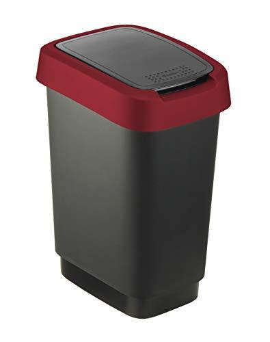 Rotho Cubo de Basura, Rojo, 10 L