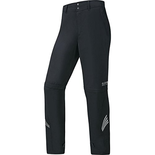 GORE WEAR Herren Pants Element Windstopper Active Shell Zip-Off Hose, Black, L