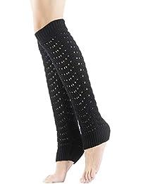 Calentador de Piernas para Mujer Calcetines Largos de Punto Mantener