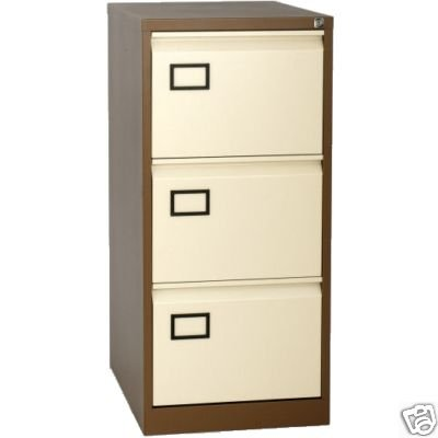 Bisley Aoc 3 Drawer Foolscap Filing Cabinet Coffee Cream