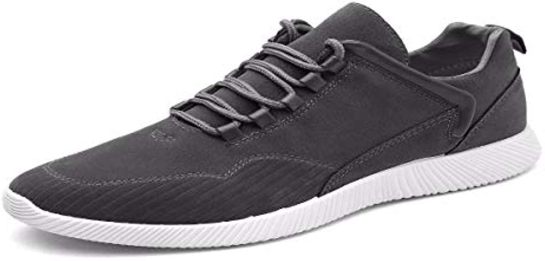 KMJBS Calzado de Hombre/Invierno Zapatos De Ocio Los Jóvenes Los Estudiantes Los Zapatos para Correr.El Gris  -