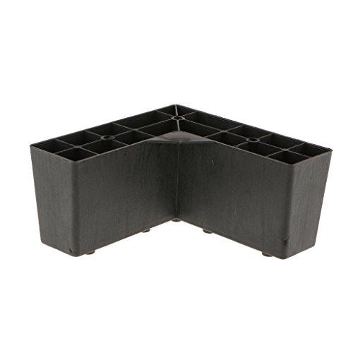 Wiegen Möbel (MagiDeal 1 Stück 14.5x14.5x7cm Kunststoff Möbel Bein Schwarz farbig Wiege Standhalter)