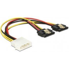 olex 4 Pin Stecker > 2 x SATA 15 Pin Buchse Metall 20 cm (Metall-buchsen)