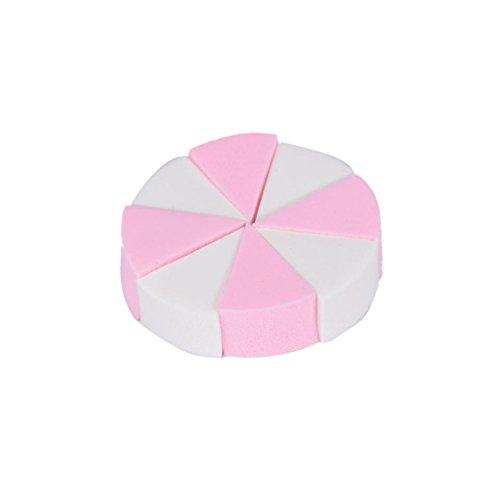 Familizo Maquillage Fondation 8PCS Pro Beauté Flawless eau Gouttelettes Éponge (Taille: 0.8cm, Blanc + Rose(8PS))